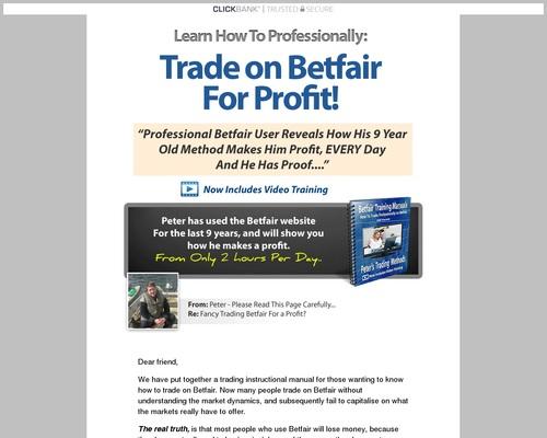 Pete's Betfair Methods - Professional Betfair Training System - DUK News